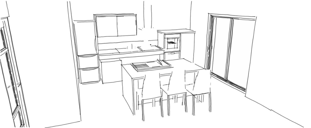 Cuisine adapt e pmr avec modulhome for Cuisine dessin 3d